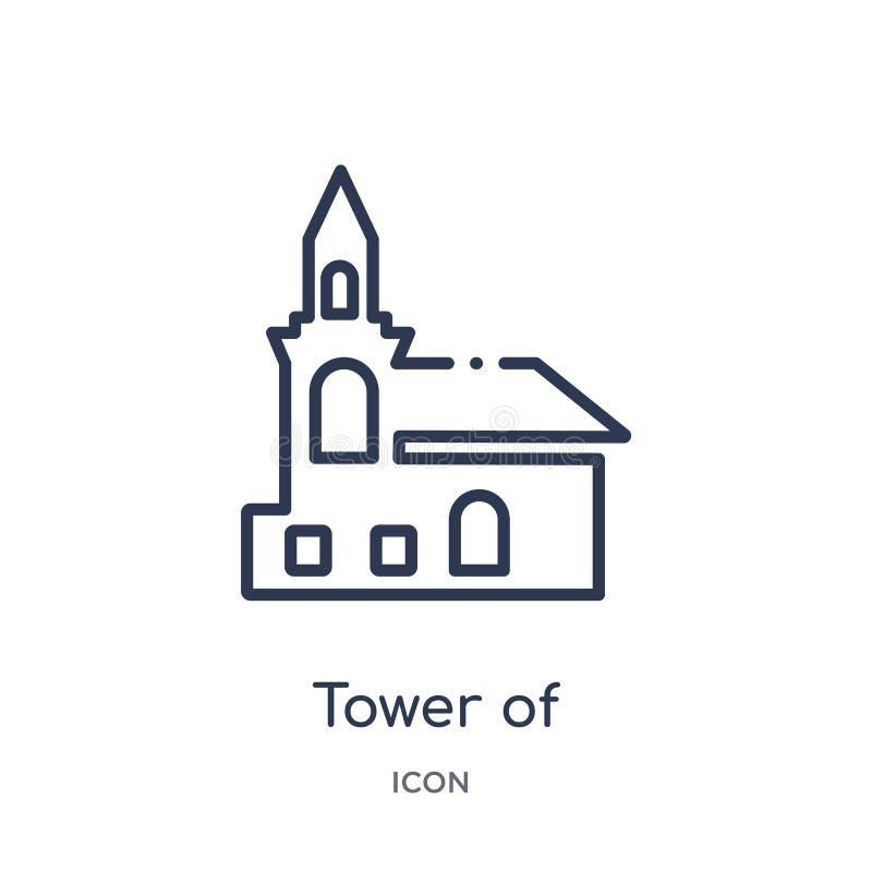 torre del nevyansk en el icono de Rusia de la colección del esquema de los monumentos Línea fina torre de nevyansk en el icono de libre illustration