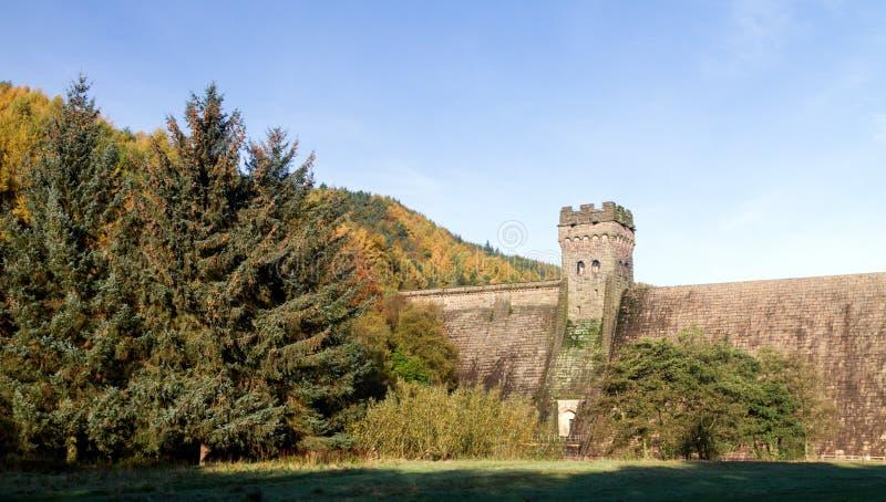 Torre del oeste de la presa derwent foto de archivo libre de regalías