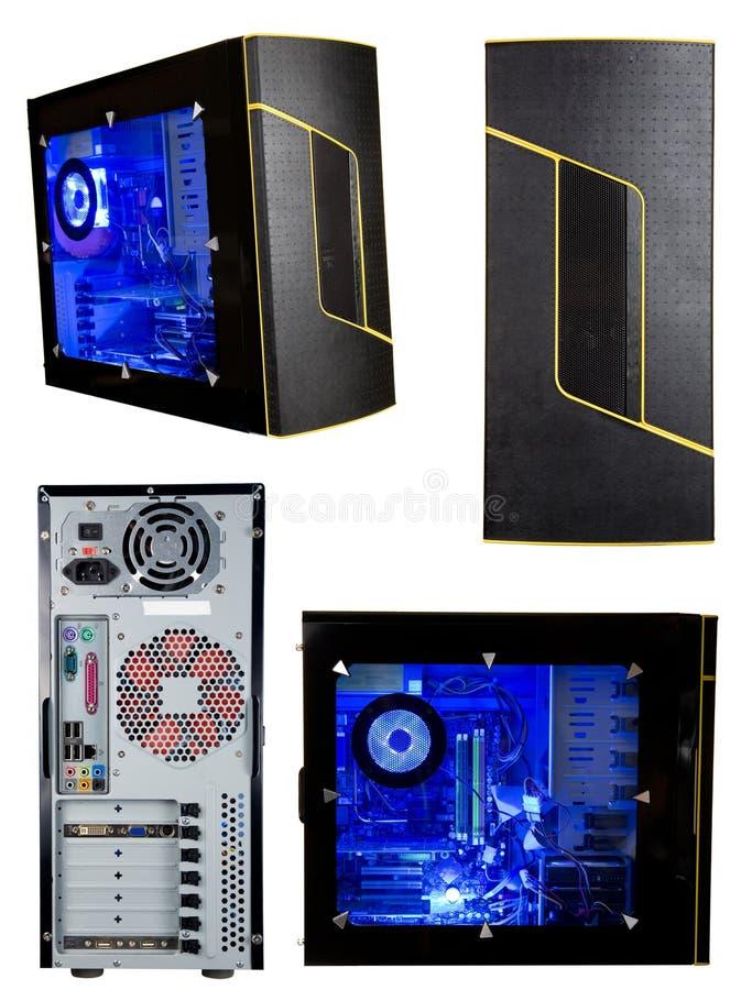 Torre del ordenador aislada imagen de archivo