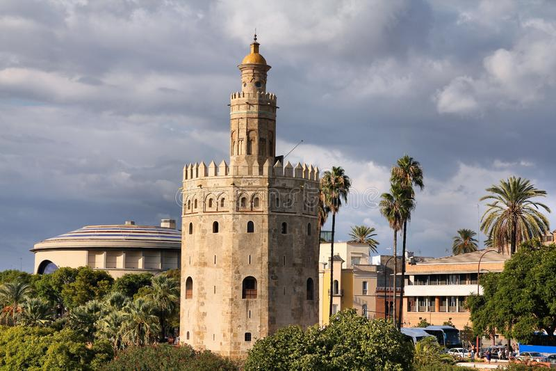 Torre del Oro royalty-vrije stock afbeeldingen