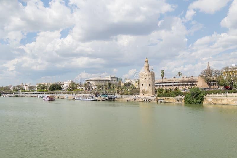 Torre del Oro, Séville, rivière du Guadalquivir, tour d'or, Sevil photos stock