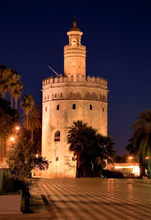 Torre del Oro Sevilla stock foto's