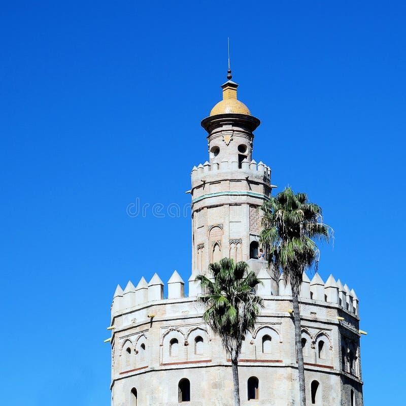 Torre del Oro Sevilla royalty-vrije stock foto's