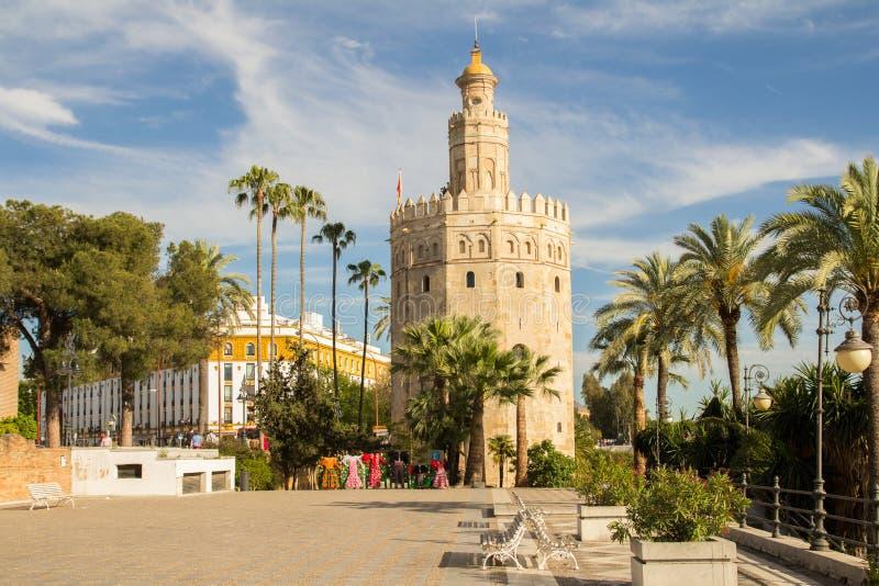 Torre Del Oro Sevilla stockfotos