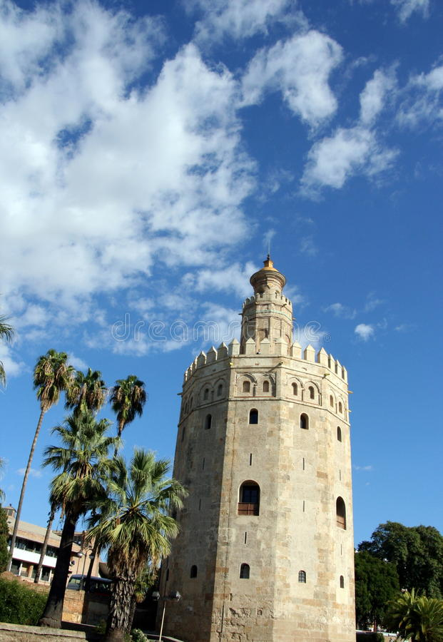 Torre Del Oro - Sevilla - Spanien stockbild