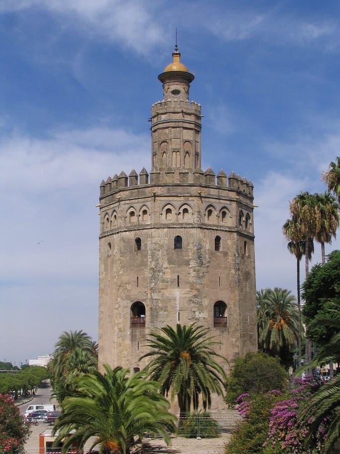 Torre Del Oro - Sevilla - Spanien stockfotos