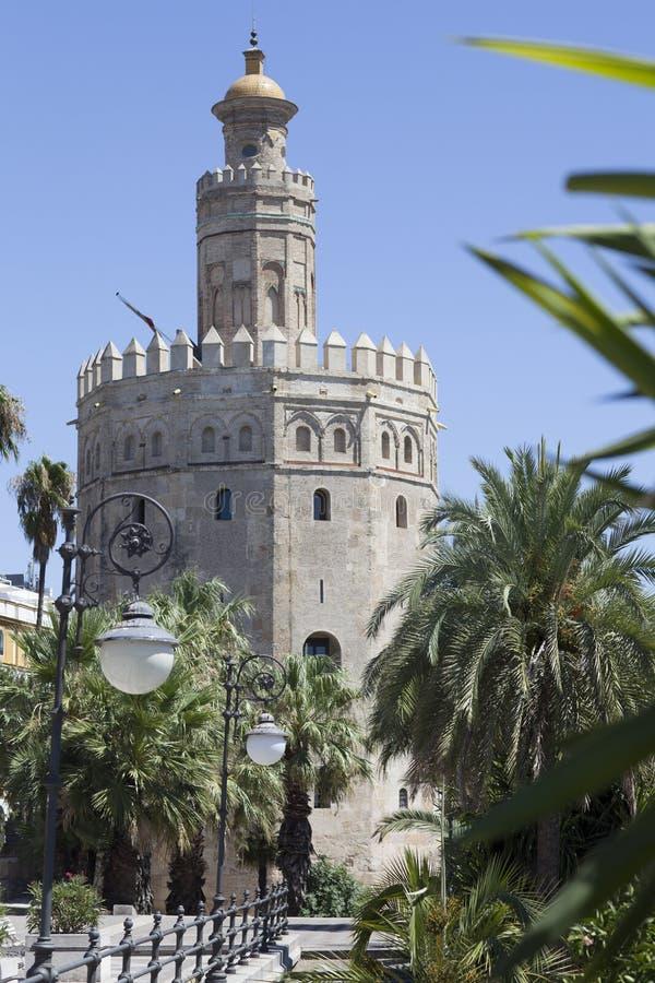 Torre del Oro Seville royaltyfria foton