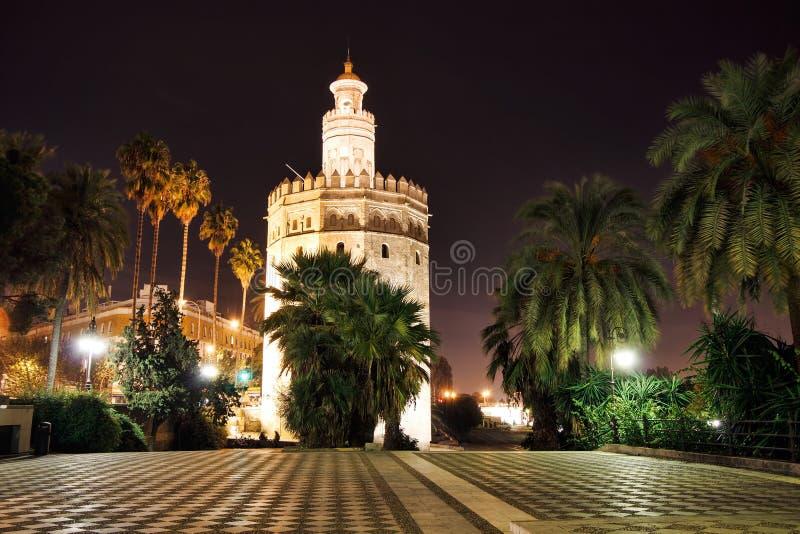 Torre del Oro, Seville, Spanien royaltyfria bilder