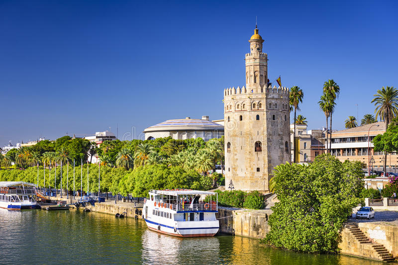 Torre del Oro Tower of Seville. Torre del Oro in Seville, Spain stock photos