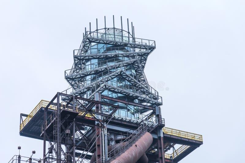Torre del perno en Vitkovice en Ostrava, República Checa fotos de archivo
