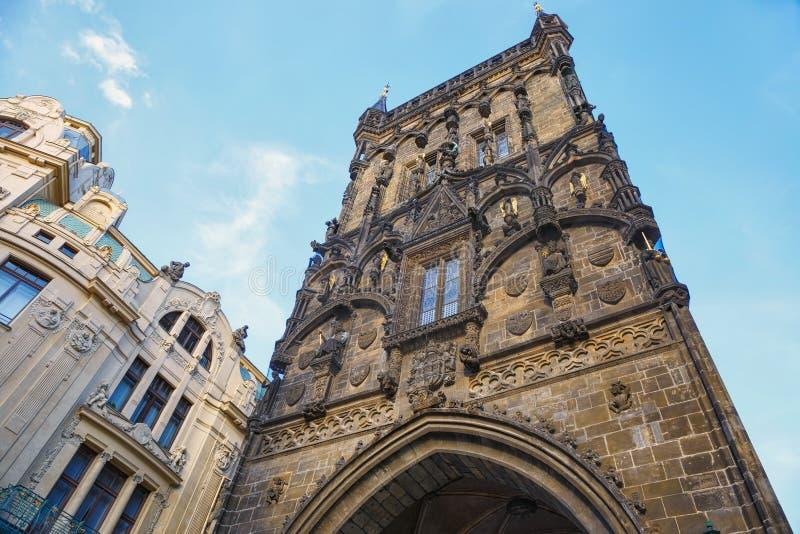 Torre del polvo de Praga República Checa imagenes de archivo