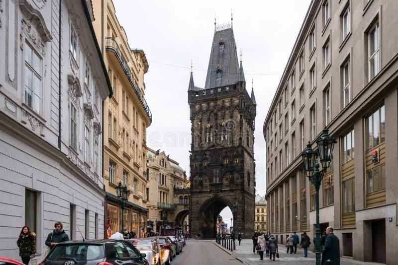 Torre del polvo en Praga, República Checa fotos de archivo libres de regalías