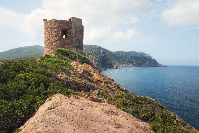Torre del Porticciolo, Сардиния, Италия стоковое фото