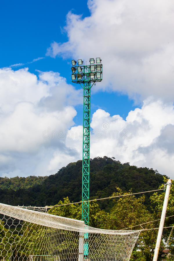 Torre del proyector fotos de archivo