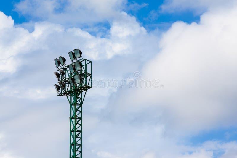 Torre del proyector fotografía de archivo
