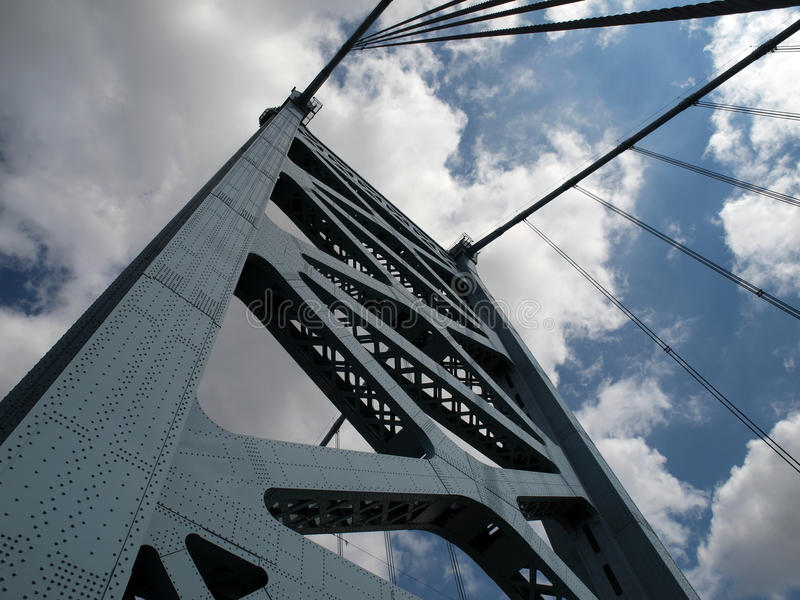 Torre del puente de Benjamin Franklin imagen de archivo