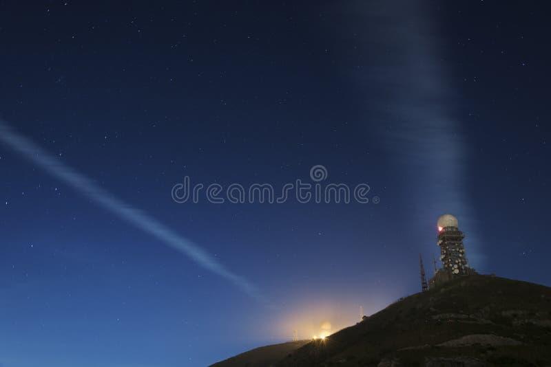Torre del radar immagine stock