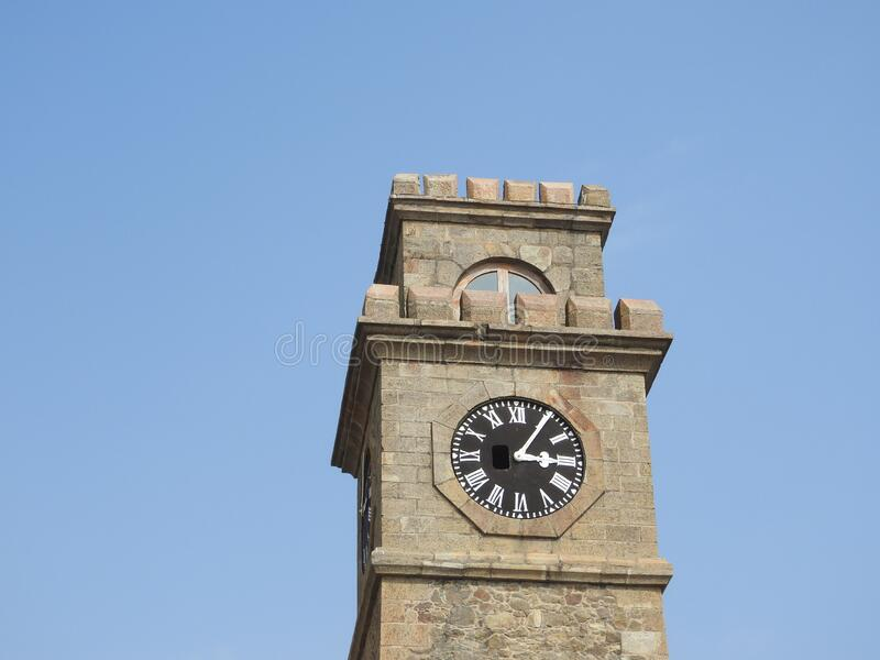 Torre del reloj de la ciudad de Galle en Sri Lanka Galle - la ciudad y puerto más grandes del sur de Sri Lanka, la capital de la imágenes de archivo libres de regalías
