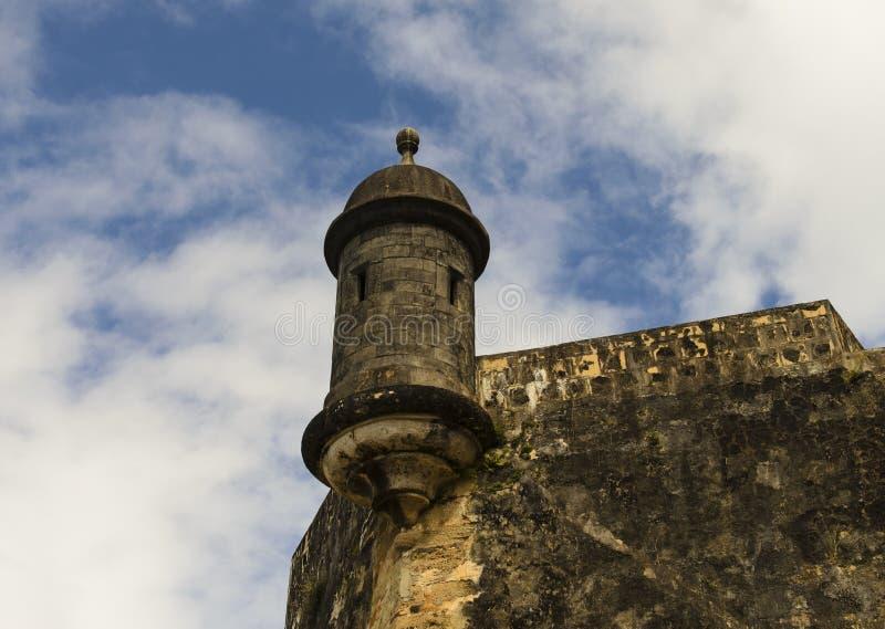 Torre del reloj del centinela en San Juan viejo fotografía de archivo libre de regalías