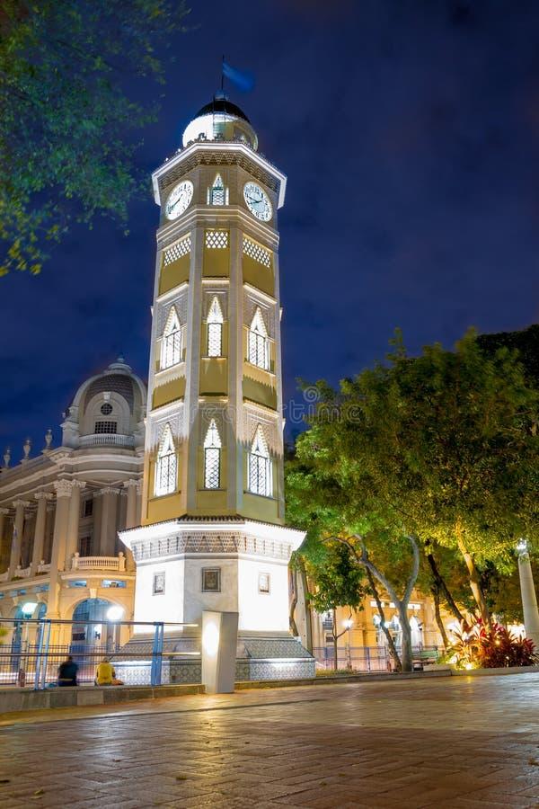 Torre Del Reloj Guayaquil, Ekwador Malecon 2000 fotografia stock
