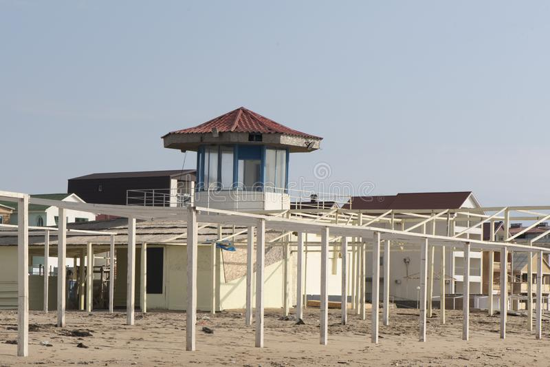 Torre del rescate por el mar imágenes de archivo libres de regalías