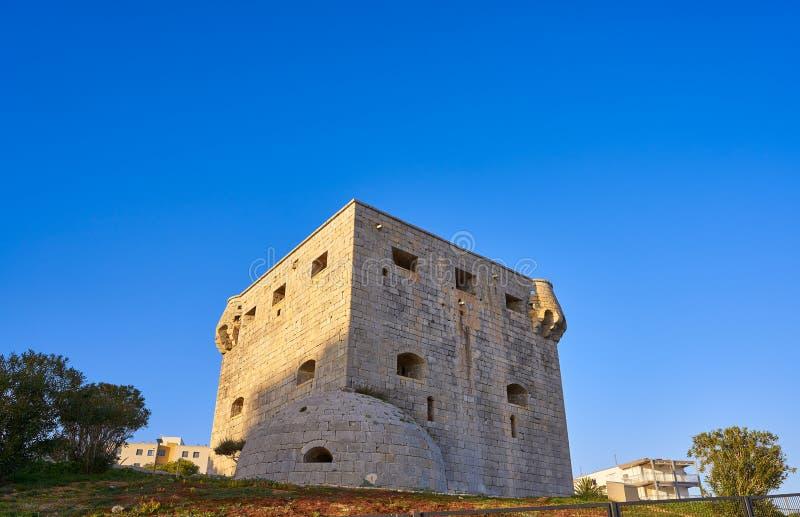 Torre Del Rey Oropesa De Mącący w Castellon fotografia royalty free