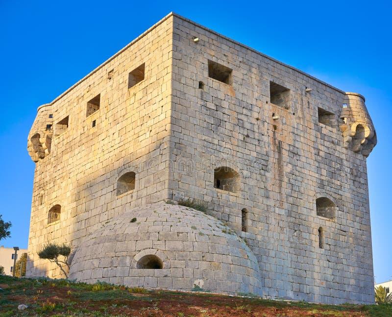 Torre Del Rey Oropesa De Mącący w Castellon zdjęcie royalty free