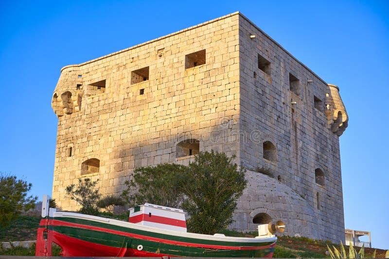Torre del Rey Oropesa de Mar in Castellon royalty-vrije stock afbeeldingen