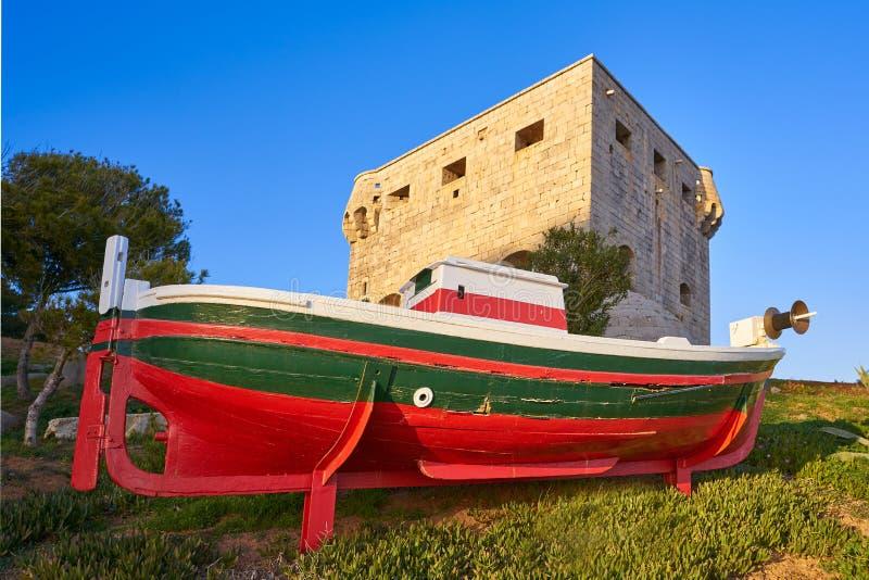 Torre del Rey Oropesa de Mar in Castellon stock afbeelding