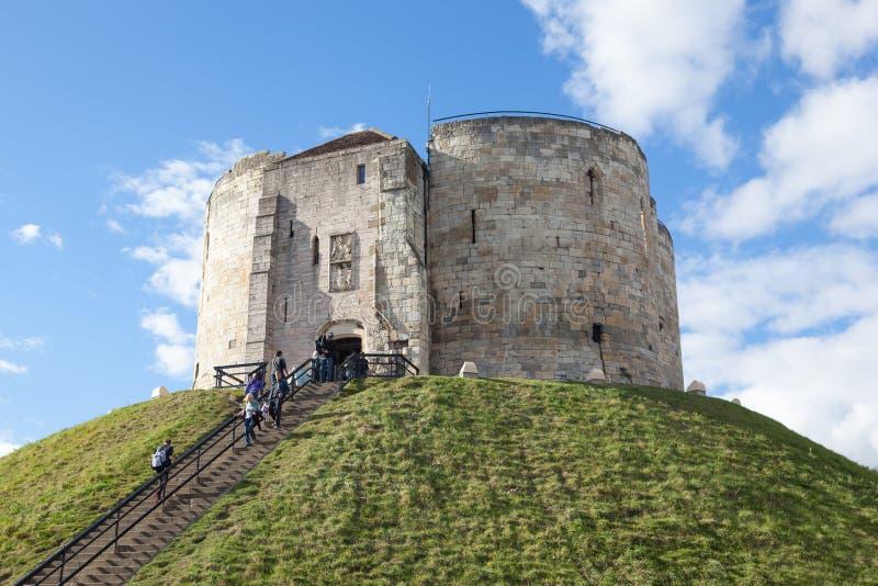 Torre del ` s de Clifford, York fotos de archivo