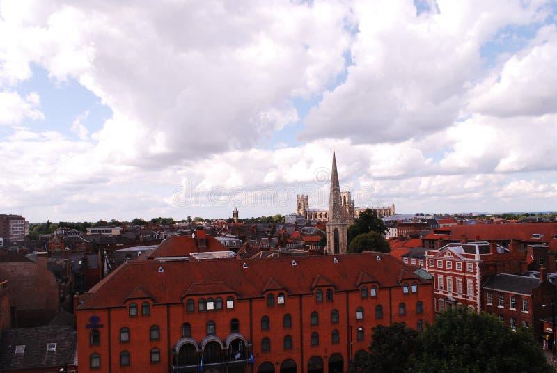 Torre del ` s di Clifford, potete vedere fino al castello di York immagine stock