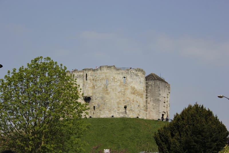 Torre del ` s di Clifford a York, Gran Bretagna immagine stock