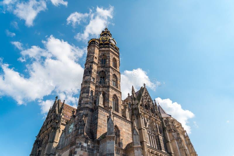 Torre del san Elizabeth Cathedral, Kosice, Slovacchia fotografia stock