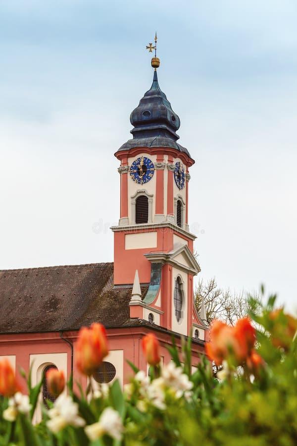 Torre del santo Marien Church foto de archivo libre de regalías