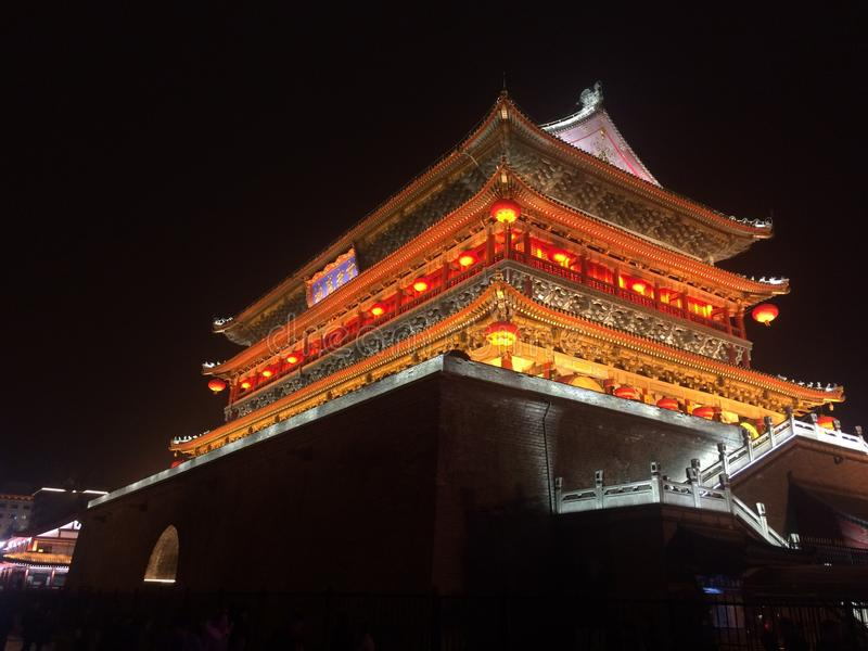 Torre del tambor de Xi& x27;  foto de archivo