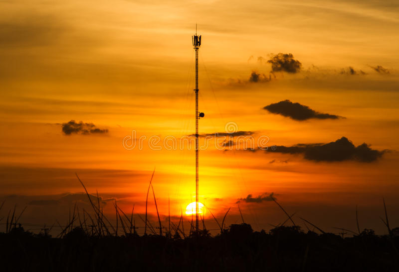 Torre del teléfono celular foto de archivo