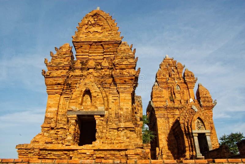 Torre del tempio di Cham nel Vietnam immagine stock libera da diritti