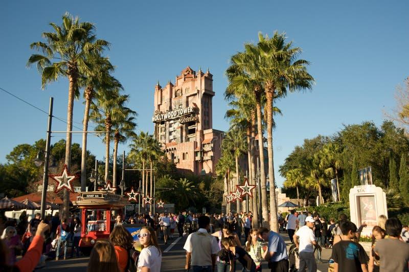 Torre del terror en los estudios de Disneyâs Hollywood fotografía de archivo