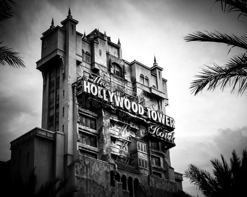 Torre del terror - estudios de Disney Hollywood de Hollywood - Orlando, la Florida fotografía de archivo