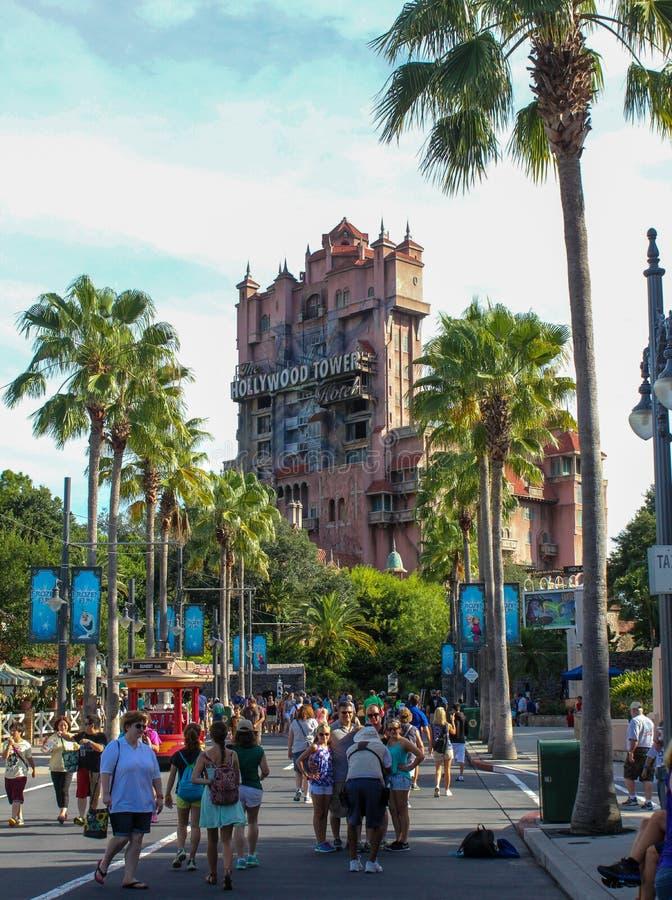 Torre del terror, estudios de Hollywood, Orlando, FL de Hollywood fotografía de archivo libre de regalías