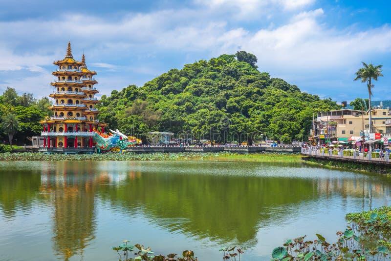 Torre del Tigre Dragón en Kaohsiung fotografía de archivo libre de regalías
