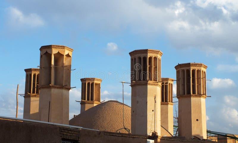 Torre del vento di Yazd immagini stock libere da diritti