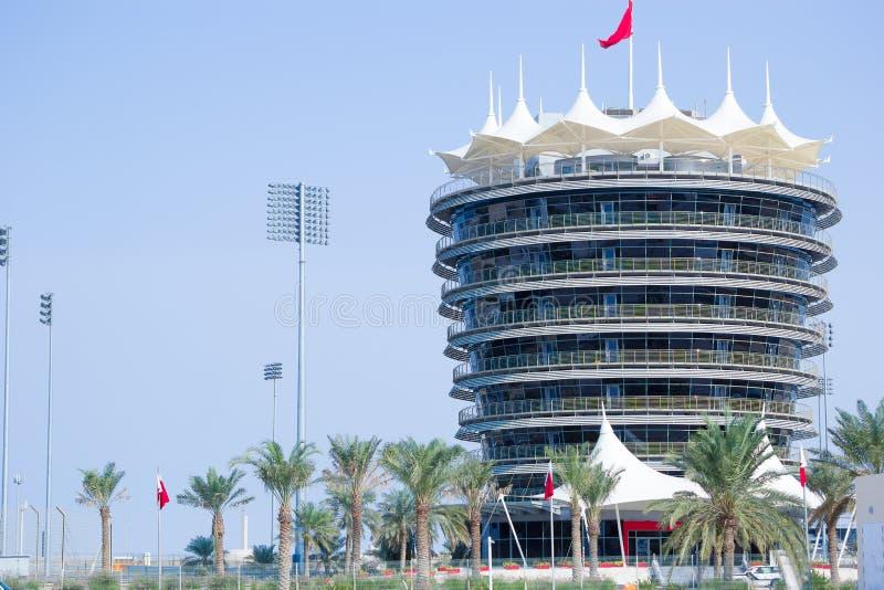Torre del VIP del circuito de carreras foto de archivo