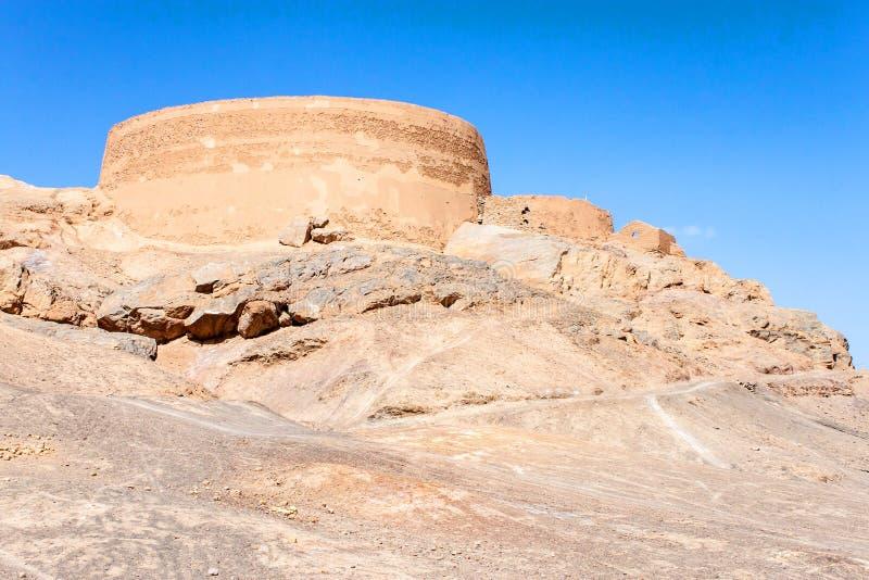 Torre del Zoroastrian del silencio fotografía de archivo libre de regalías