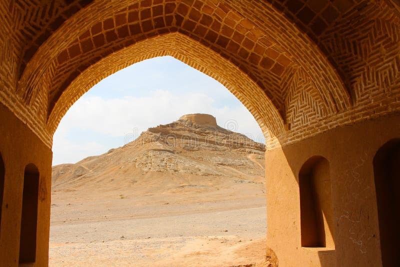 Torre del Zoroastrian del silencio en Yazd, Irán fotos de archivo
