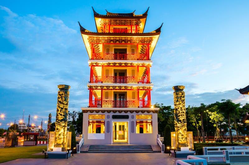 Torre dell'allerta in Tailandia fotografia stock libera da diritti