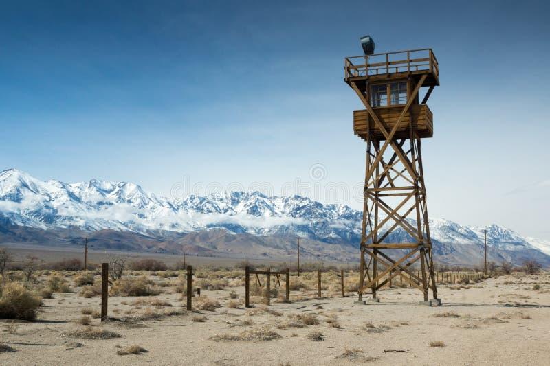 Torre dell'orologio di Manzanar immagini stock libere da diritti
