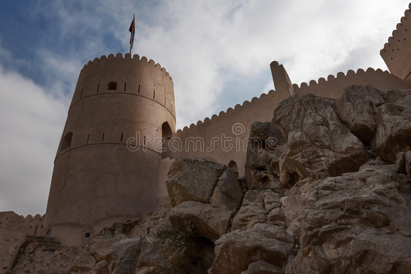 Torre dell'orologio di una fortificazione immagini stock