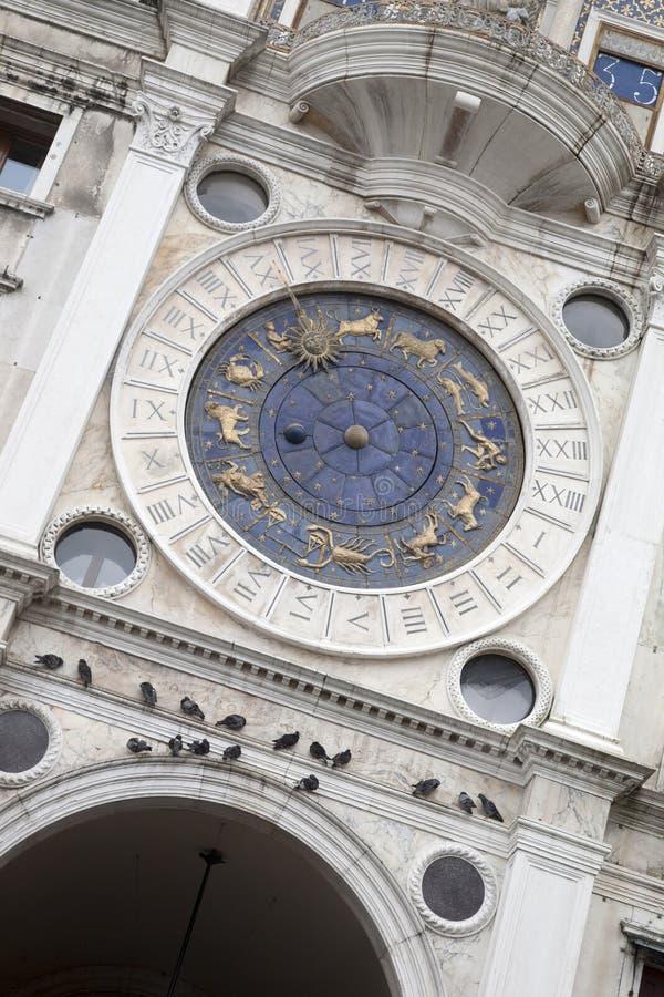 Torre dell Orologio - klockatorn, Venedig arkivbild
