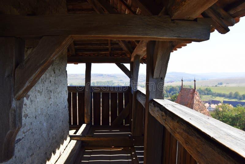 Torre dell'orologio in Romania fotografia stock
